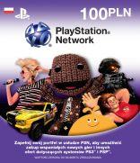 Karta PlayStation Network 100zł (kod on-line)