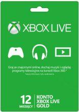 Abonament Xbox Live Gold - 12 miesięcy - wersja cyfrowa