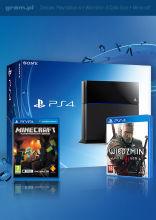 Konsola PlayStation 4 + Wiedźmin 3 Dziki Gon + Minecraft