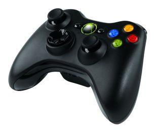 Kontroler Microsoft Xbox 360 bezprzewodowy czarny PC / Xbox 360