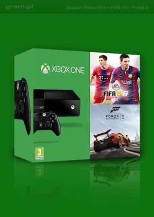 Konsola XBOX ONE + FIFA 15 + FORZA 5 + bonusy